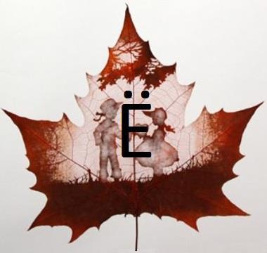 Изображение буквы «Ё»